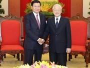 越共中央总书记、国家主席阮富仲访老有助于不断培育越老两国特殊关系