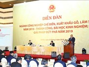 政府总理阮春福:2019年木材和林产品出口额需突破110亿美元的大关