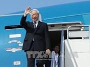 越共中央总书记、国家主席阮富仲离开河内 启程访问老挝和柬埔寨