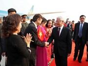 泰国媒体:阮富仲访问老柬两国加强外交关系