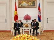 越共中央总书记、国家主席阮富仲会见柬埔寨首相洪森