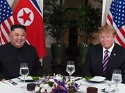 美朝领导人第二次会晤:朝鲜领导人和美国总统结束工作晚宴