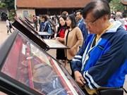 """""""阮朝木板中的国徽和越国京都""""展览会在文庙国子监举行"""