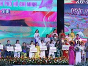 第六次胡志明市奥黛比赛:推广越南传统服装之美