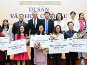 """五名越南学生在""""欧洲文化遗产""""写作比赛中荣获最高奖项"""