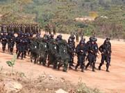 """柬中两军以""""反恐联合训练暨人道主义救助""""为主题开展联合训练"""