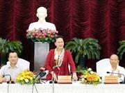 越南国会主席阮氏金银赴平顺省调研