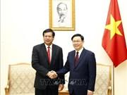 政府副总理王廷惠与老挝前总理波松·布帕万分享合作社发展经验