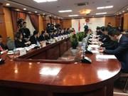 陈俊英与广西壮族自治区党委书记鹿心社举行会谈