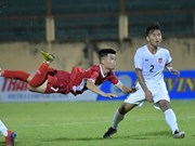 2019年越南国际U19足球赛开赛  越南队2-1反超缅甸队