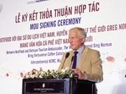 越南NutiFood与高尔夫球界传奇人物诺曼合作向世界推介越南咖啡文化