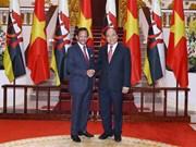 越南政府总理阮春福会见文莱苏丹