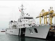 """印海岸警卫队""""维吉特"""" 号军舰访问岘港市"""