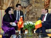 阮氏金银会见比利时联邦众议长西格弗里特·布拉克