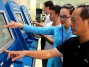 越航在许多国家机场设置自动值机柜台