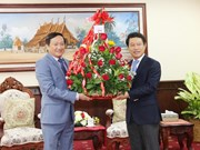 越南驻老挝大使向老挝外交部致以传统新年祝福