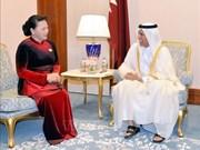 国会主席阮氏金银会见卡塔尔议会议长阿勒马哈茂德