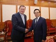 越共中央对外部部长黄平君会见德国图林根州州长拉梅劳