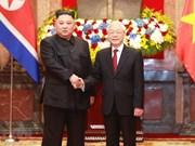 阮富仲向朝鲜国务委员会委员长金正恩致贺电