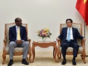 越南政府副总理武德儋会见塞舌尔副总统文森特·梅里顿