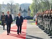 捷克共和国总理主持仪式  欢迎越南政府总理阮春福访问