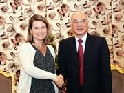美国国会议员助理代表团访问胡志明市