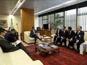 巴西副总统汉密尔顿·穆拉奥会见越南国会副主席汪周刘