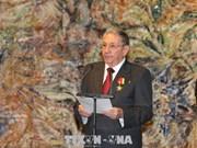 古巴党和国家领导出席越南—古巴友谊学校落成仪式
