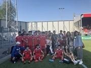 越南PVF U15球队在欧洲角逐