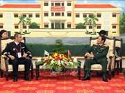 越南人民军队副总参谋长阮新疆中将会见国际军体主席