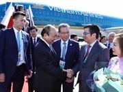 """阮春福总理抵达北京开始出席""""一带一路""""国际合作高峰论坛"""