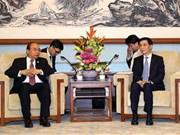 阮春福总理会见中国共产党中央书记处书记王沪宁