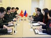 潘文江上将会见俄武装力量总参谋长和菲国防部副部长