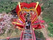 越南首座5D爱情玻璃桥在山罗省建成启用