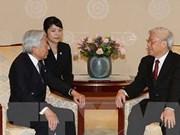 越共中央总书记、国家主席阮富仲向日本上皇明仁致电