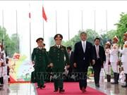 越南防长吴春历大将同日本防卫大臣岩屋毅举行会谈