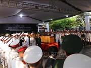 原国家主席黎德英大将安葬仪式在胡志明市陵园举行