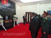 越南驻各国大使馆举行原越南社会主义共和国主席黎德英吊唁仪式