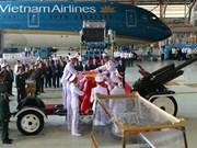 原国家主席黎德英大将灵柩专机抵达胡志明市