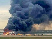 俄罗斯一客机起火: 遇难者中没有越南公民