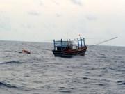 广南省海上遇险的2艘渔船获救