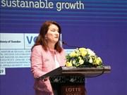 大力推动越瑞两国贸易关系发展