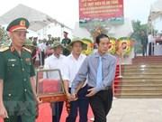 广平省为援老牺牲的越南志愿军和专家烈士遗骸举行追悼会和安葬仪式