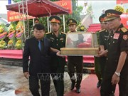 河静省为援老牺牲的越南志愿军和专家烈士举行追悼会和安葬仪式