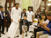 印度副总统奈杜出席斋浦尔脚假肢安装中心开业典礼