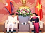 越南国会主席阮氏金银会见尼泊尔总理奥利