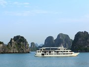 缅甸总统吴温敏游览世界新自然奇观越南下龙湾