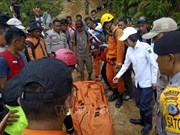 印度尼西亚金矿坍塌 致多人死亡和被埋