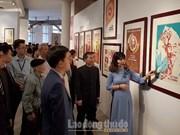 胡志明主席宣传画在胡志明市展出