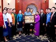 进一步加强胡志明市共青团与老挝人民革命青年团的合作